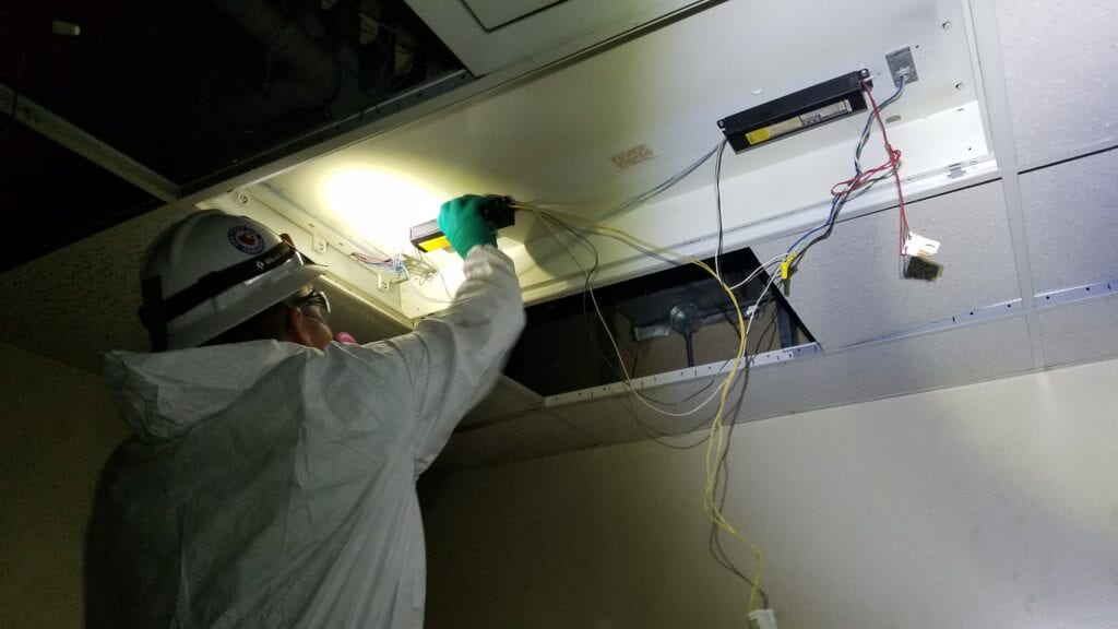 Ballast Removal from Drop Ceiling